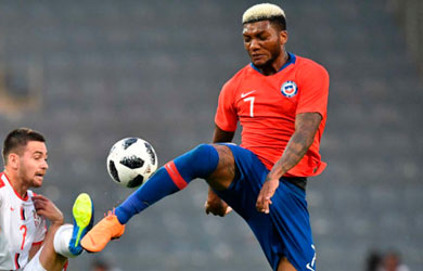 Chile withstand Serbia in a friendly game