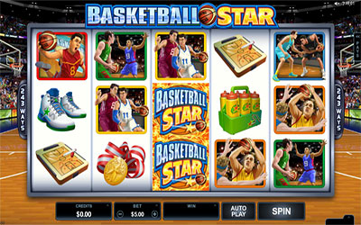 Sample image of a basketball theme slot