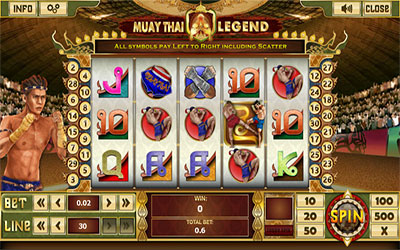 Sample image of a martial art theme slot