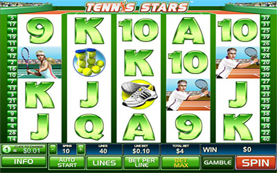 Sample image of a tennis theme slot